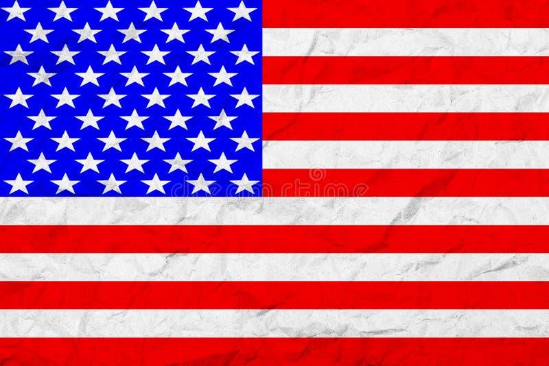 Drapeau des Etats-Unis d'Amérique Type de cru Vieille texture de mur Fond fané illustration libre de droits