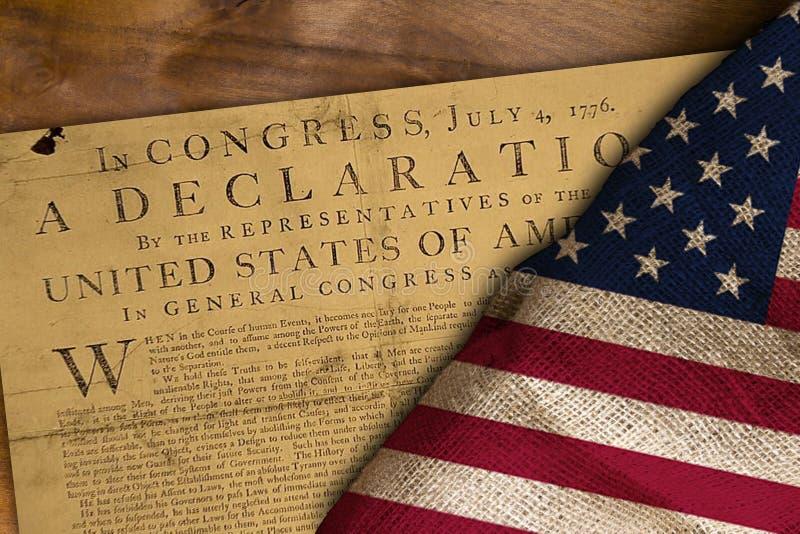 Drapeau des Etats-Unis et de déclaration photographie stock libre de droits