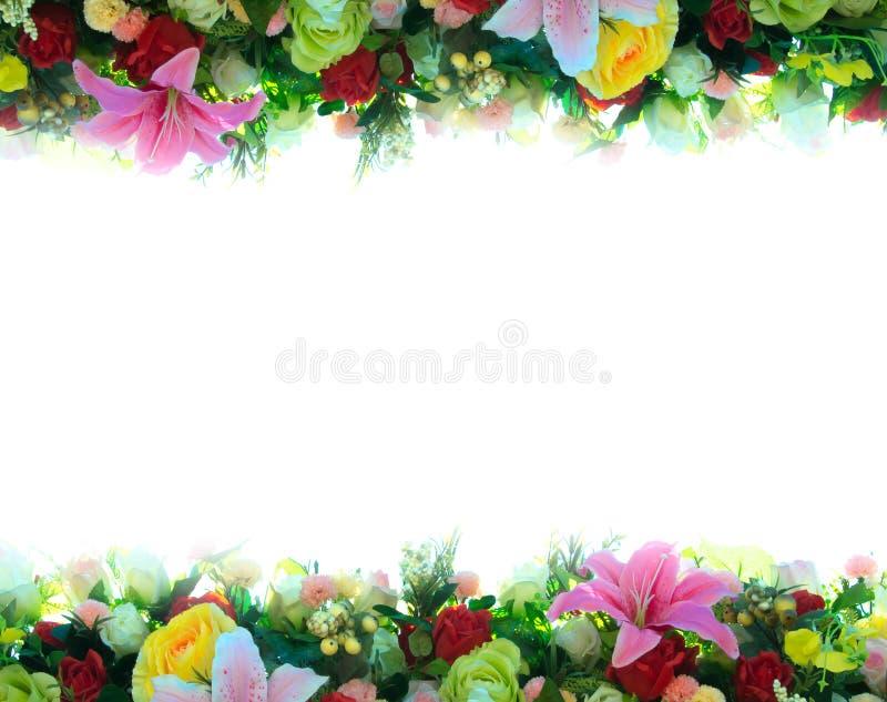 Drapeau des fleurs Background photographie stock