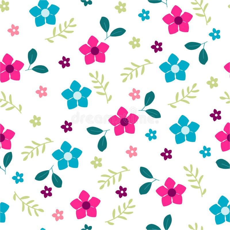 Drapeau des fleurs Background Modèle de fleurs de peinture illustration stock