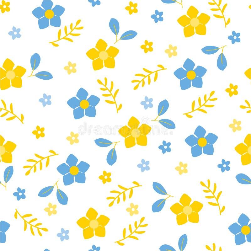 Drapeau des fleurs Background Modèle de fleurs de peinture illustration libre de droits