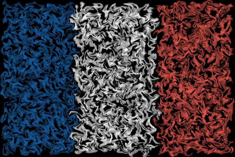 Drapeau des Frances - conception brûlante enduite de couleurs illustration stock