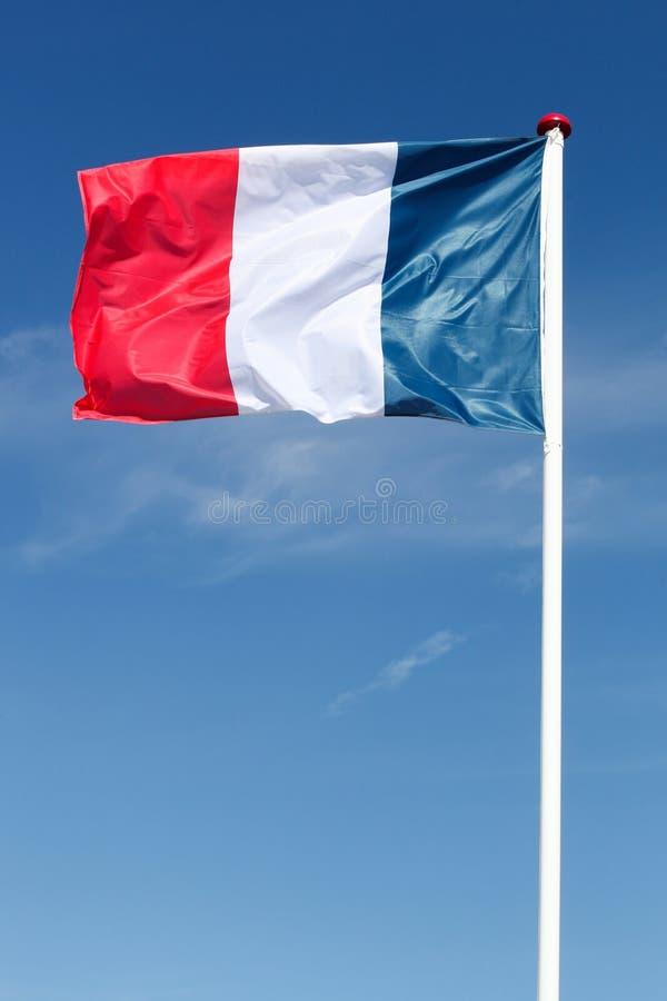 Drapeau des Frances dans le ciel images libres de droits