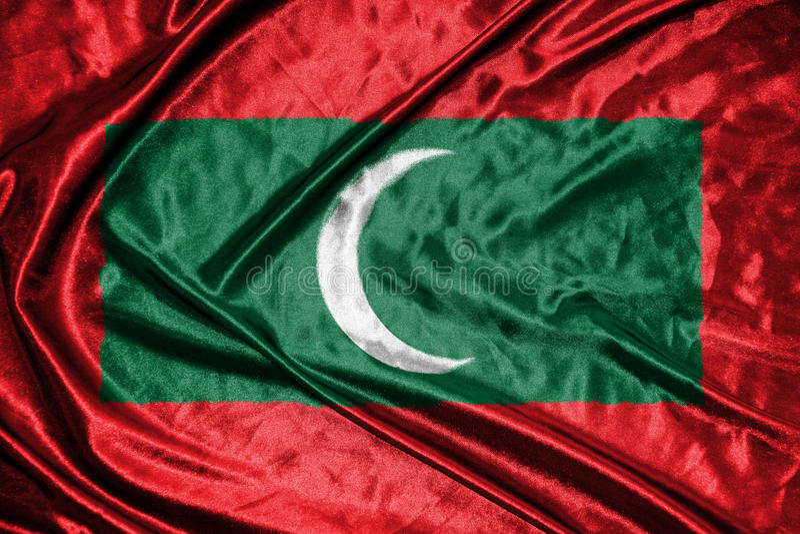 Drapeau des Maldives drapeau sur le fond photos libres de droits