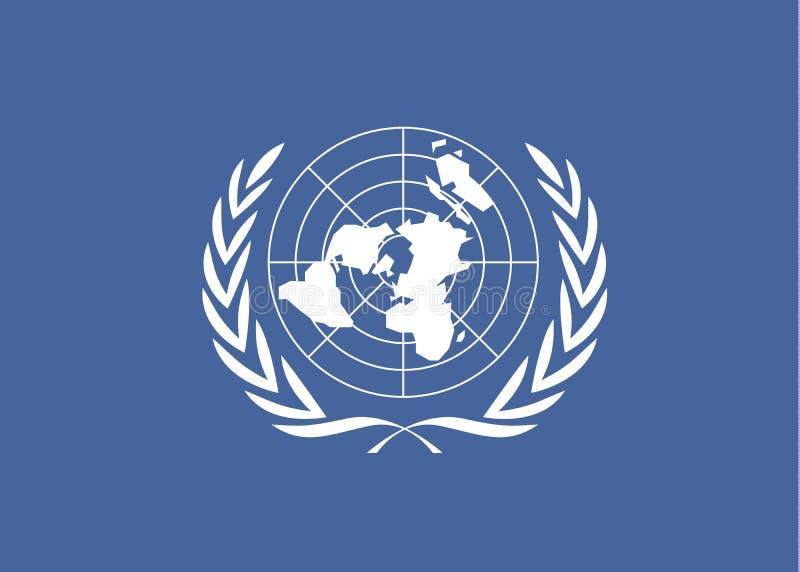 Drapeau des Nations Unies illustration de vecteur