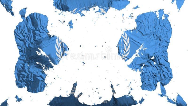 Drapeau dispersé des Nations Unies illustration de vecteur