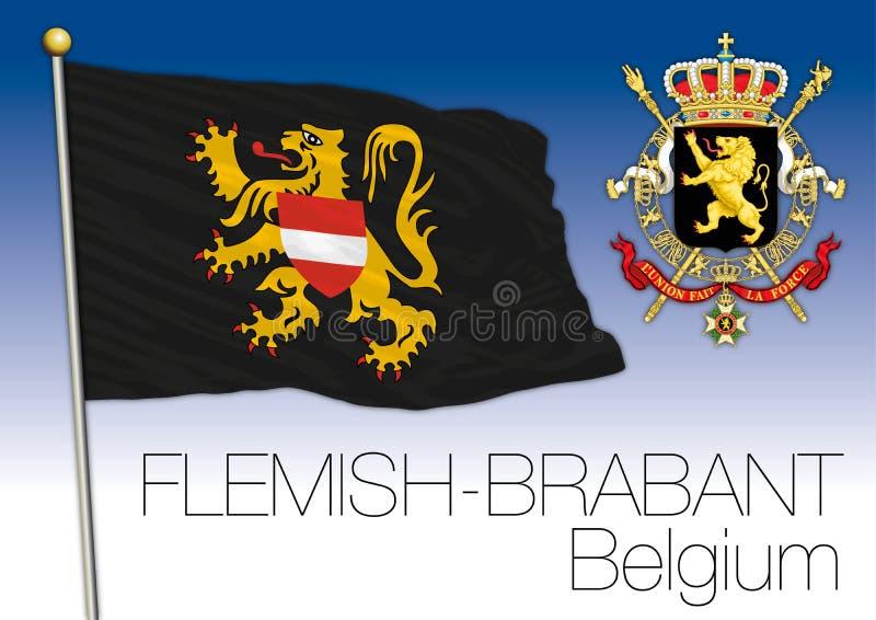 Drapeau du Brabant flamand, Belgique illustration stock