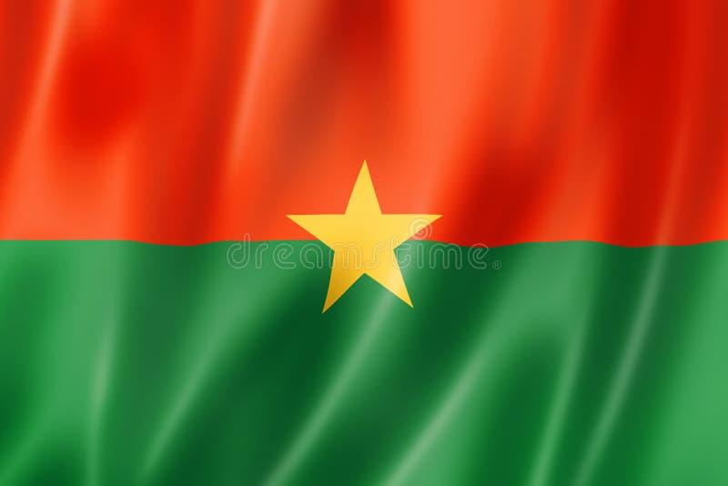 Drapeau du Burkina Faso illustration stock