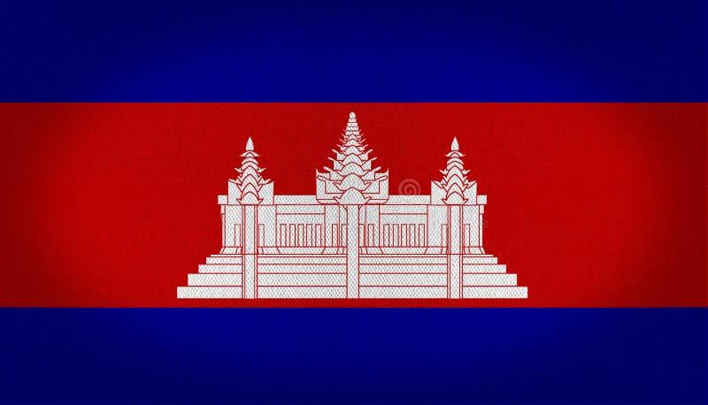 Drapeau du Cambodge illustration libre de droits