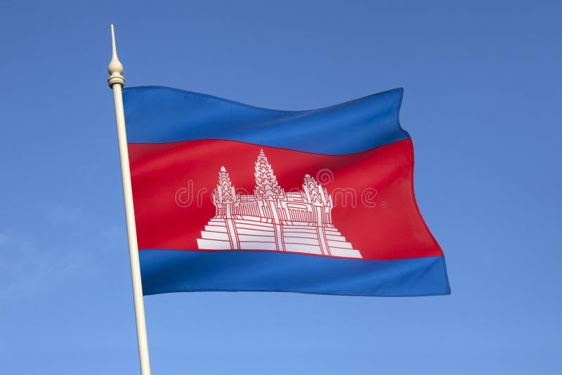 Drapeau du Cambodge - l'Asie du Sud-Est photographie stock