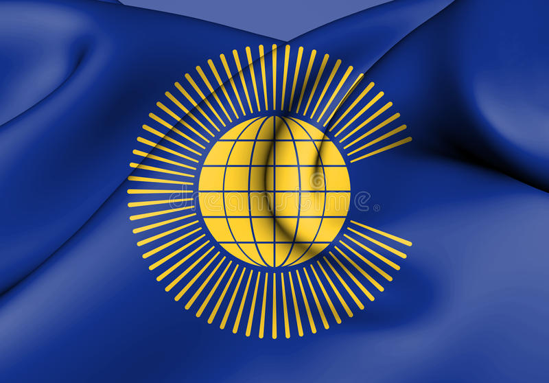 Drapeau du Commonwealth des nations illustration stock