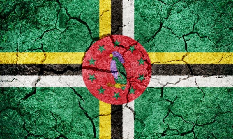 Drapeau du Commonwealth of Dominica illustration de vecteur