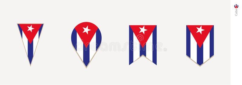 Drapeau du Cuba dans la conception verticale, illustration de vecteur illustration libre de droits