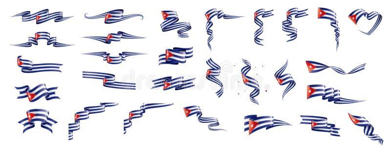Drapeau du Cuba, illustration de vecteur sur un fond blanc illustration libre de droits