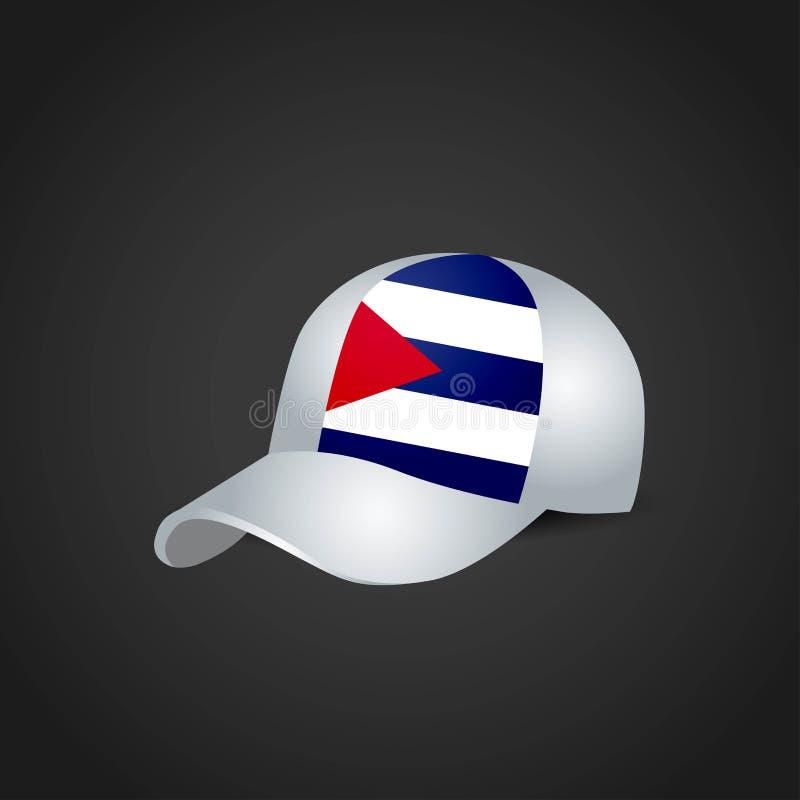 Drapeau du Cuba sur le chapeau illustration libre de droits
