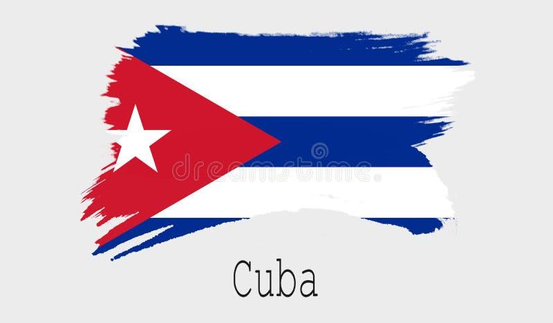 Drapeau du Cuba sur le fond blanc illustration libre de droits