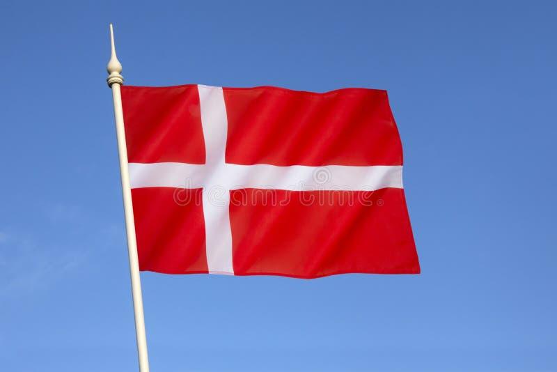 Drapeau du Danemark - le Dannebrog photographie stock libre de droits