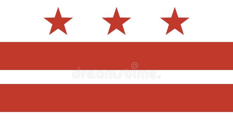 Drapeau du District de Columbia illustration libre de droits