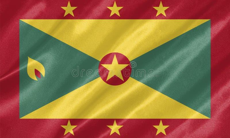 Drapeau du Grenada illustration de vecteur