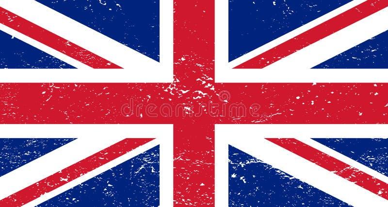 Drapeau du Grunge Great Britain illustration de vecteur