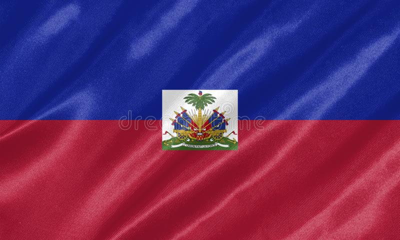 Drapeau du Haïti illustration stock