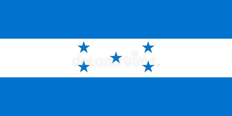 Drapeau du Honduras dans des couleurs et des proportions officielles, image de vecteur illustration libre de droits