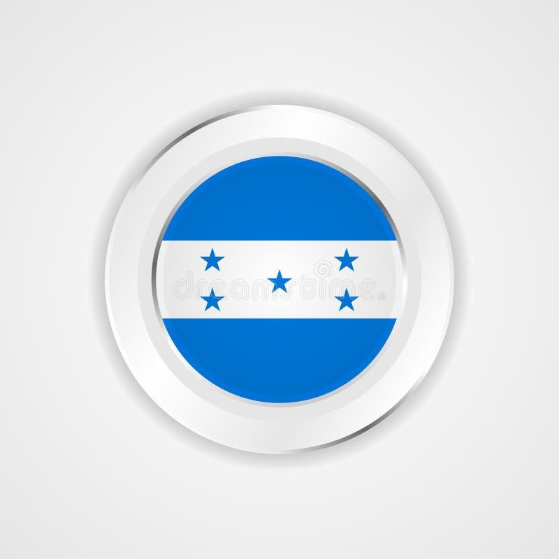 Drapeau du Honduras dans l'icône brillante illustration stock