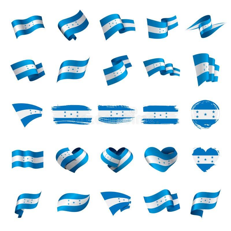 Drapeau du Honduras, illustration de vecteur illustration stock