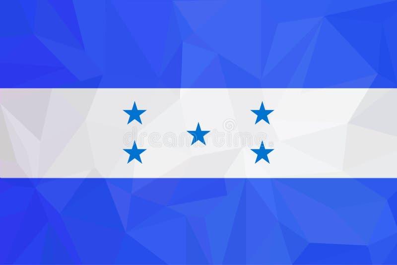 Drapeau du Honduras Drapeau national d'isolement du Honduras Drapeau de ondulation de la république du Honduras Drapeau hondurien illustration libre de droits