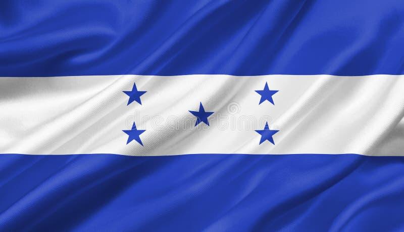 Drapeau du Honduras ondulant avec le vent, illustration 3D illustration de vecteur