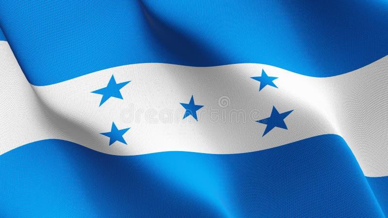 Drapeau du Honduras ondulant sur le vent illustration libre de droits