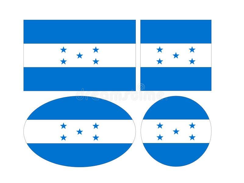 Drapeau du Honduras - république du Honduras illustration stock