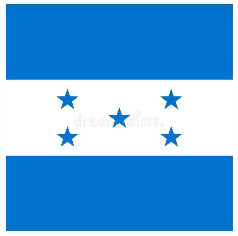 Drapeau du Honduras - république du Honduras illustration de vecteur