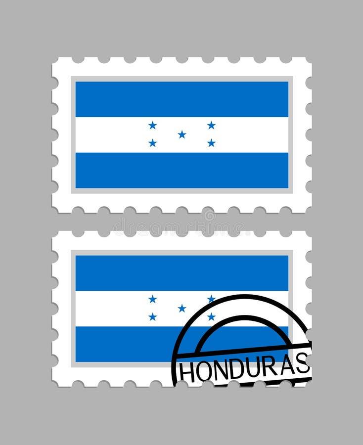 Drapeau du Honduras sur des timbres-poste illustration de vecteur