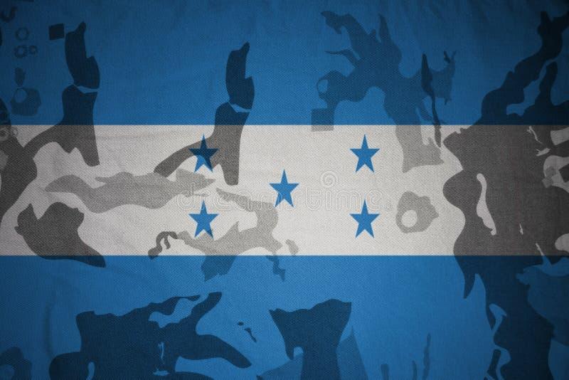 drapeau du Honduras sur la texture kaki Concept militaire illustration libre de droits