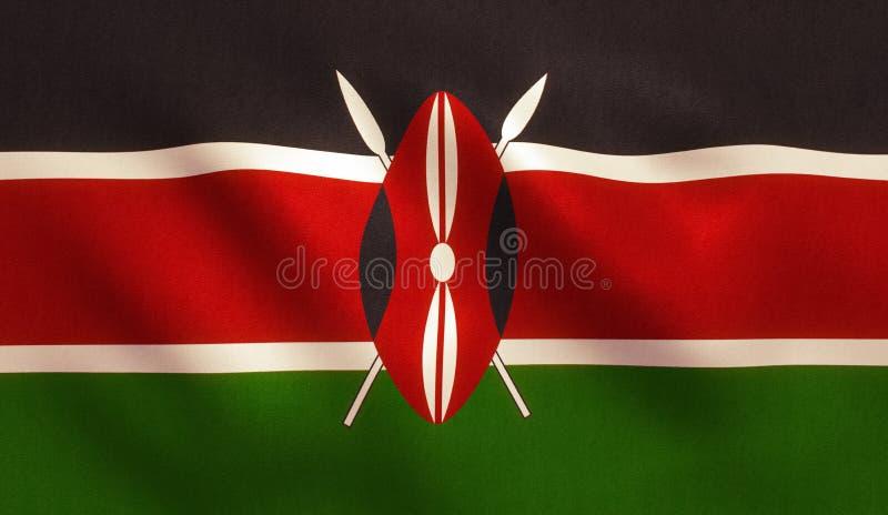 Drapeau du Kenya photos libres de droits