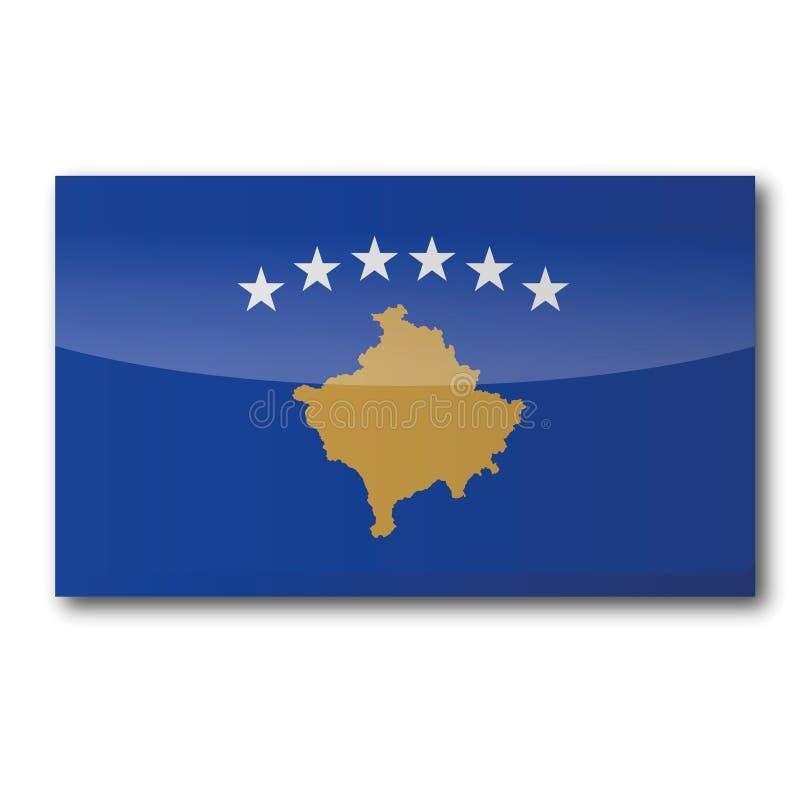 Drapeau du Kosovo illustration de vecteur