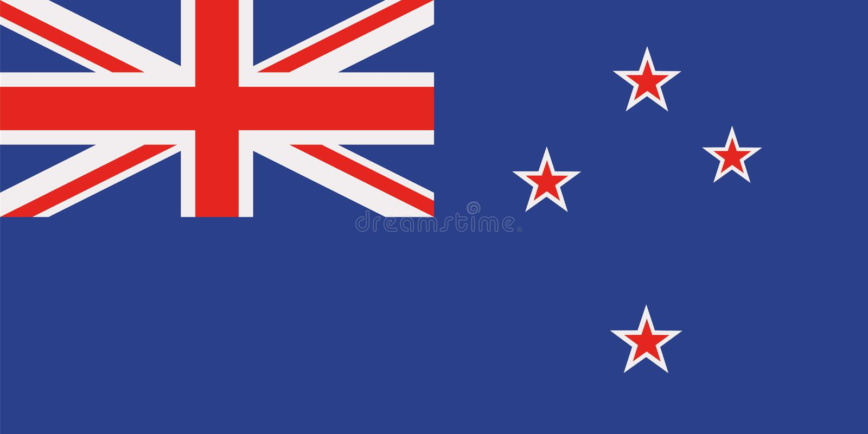 Drapeau du Nouvelle-Zélande illustration stock
