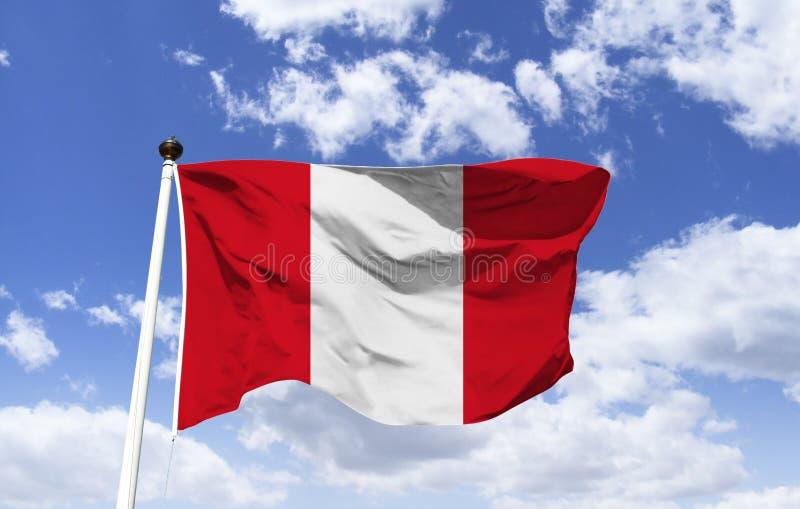 Drapeau du Pérou, pureté du sentiment et de la justice photos libres de droits