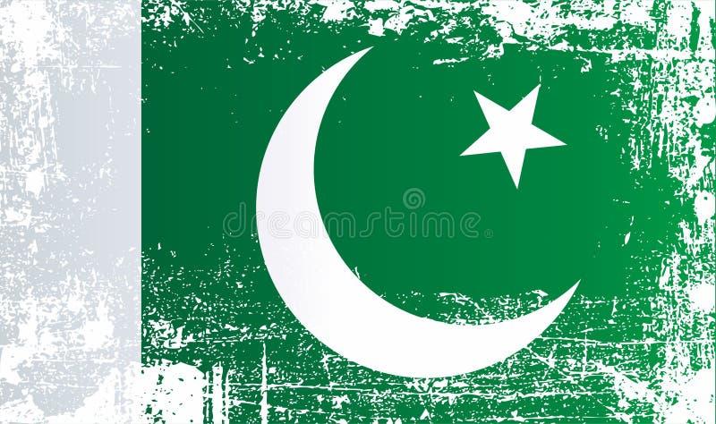 Drapeau du Pakistan, république du Pakistan islamique Taches sales froissées photo libre de droits