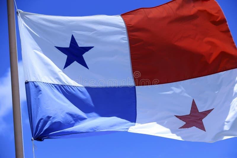 Drapeau du Panama photographie stock