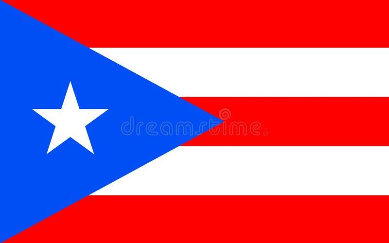 Drapeau du Porto Rico, Etats-Unis photos stock