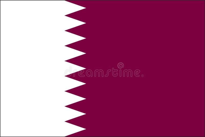 Drapeau du Qatar illustration de vecteur