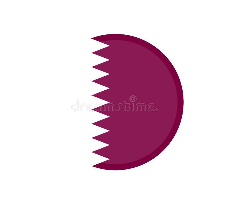 Drapeau du Qatar pour le Jour de la Déclaration d'Indépendance et l'illustration infographic EPS10 de vecteur illustration stock