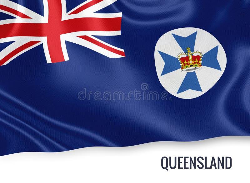 Drapeau du Queensland d'état australien illustration de vecteur