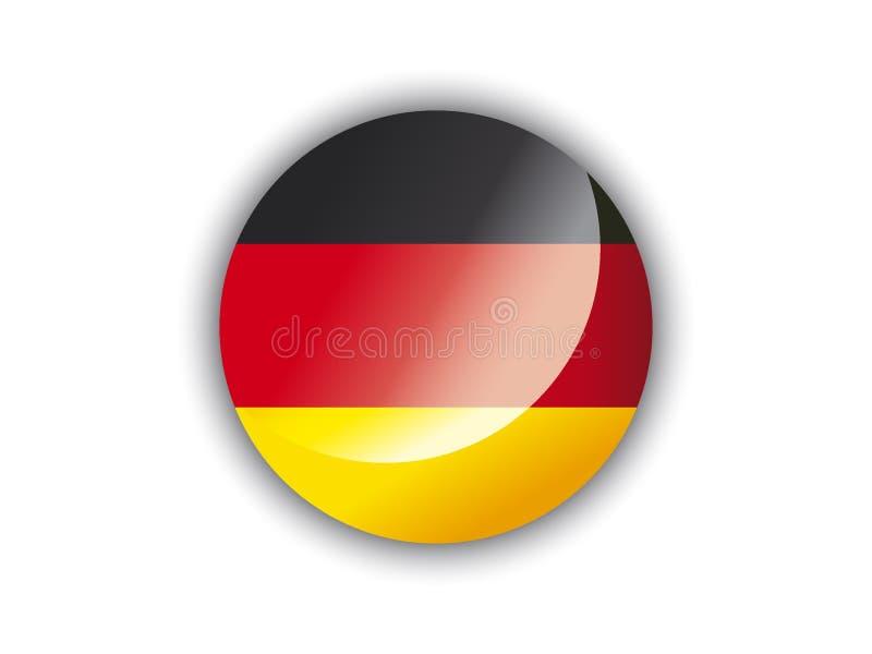 drapeau du rond 3D de l'Allemagne illustration de vecteur