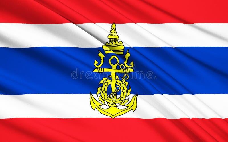 Drapeau du royaume de Thaïlande illustration de vecteur