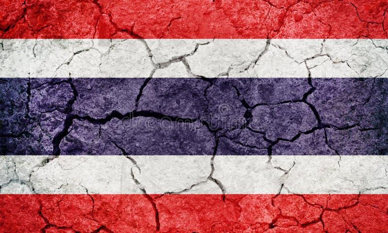 Drapeau du royaume de Thaïlande illustration stock
