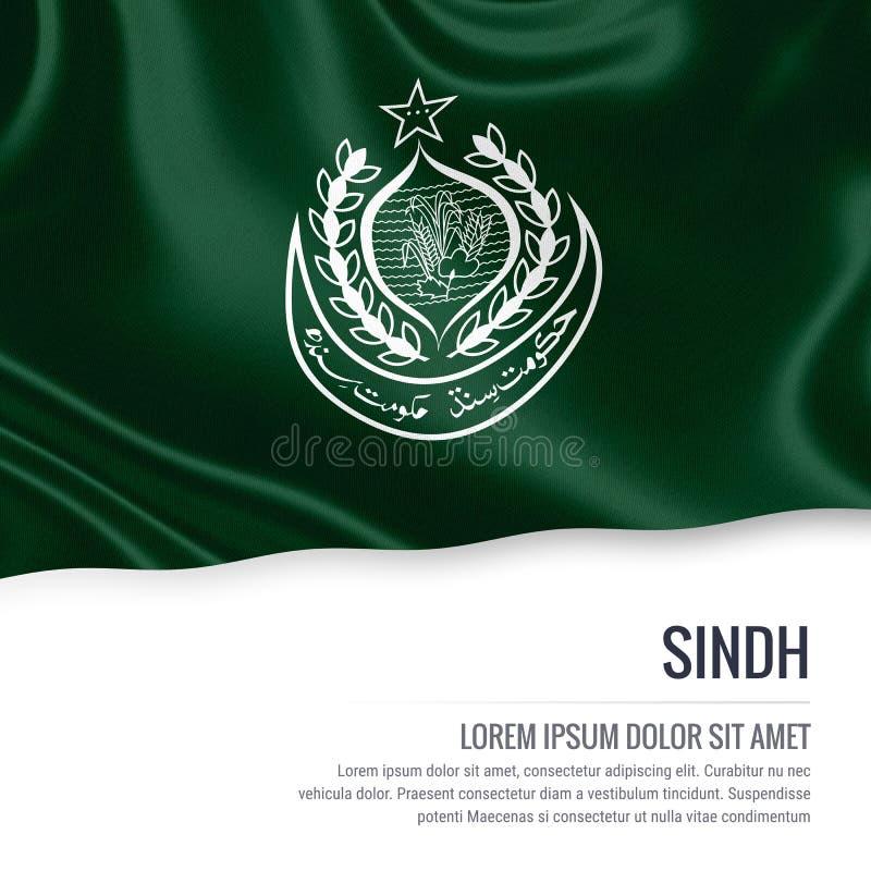 Drapeau du Sind d'état du Pakistan illustration de vecteur