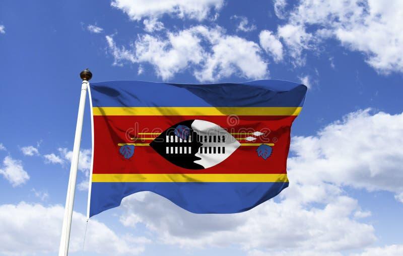 Drapeau du Souaziland, pays d'Afrique méridionale images stock
